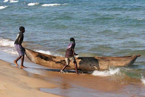 Water in Lake Malawi turns green