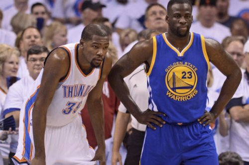 Kevin Durant's NSFW message to Thunder fans who thought he hung out with Draymond Green during 2016 WCF