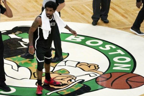 Report: Celtics players' indifference towards Kyrie Irving stomping on logo was seen as 'red flag' in organization