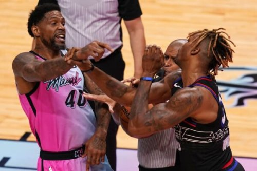 Report: NBA suspends 76ers big man Dwight Howard after altercation with Udonis Haslem