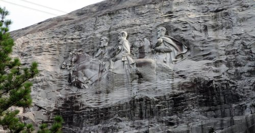 Confederate 'Cavalry' rides through Stone Mountain Park after permit denied