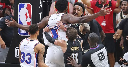 Joel Embiid questions officiating and won't mention Trae Young by name