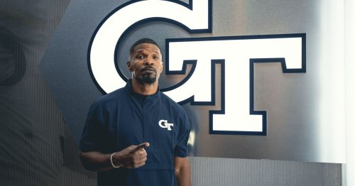 What was Jamie Foxx doing at Georgia Tech?