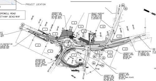 Roundabout construction to begin at Hopewell/Bethany Roads in Milton