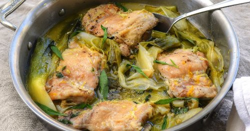 RECIPE: Leeks are the highlight of this quick braised chicken recipe