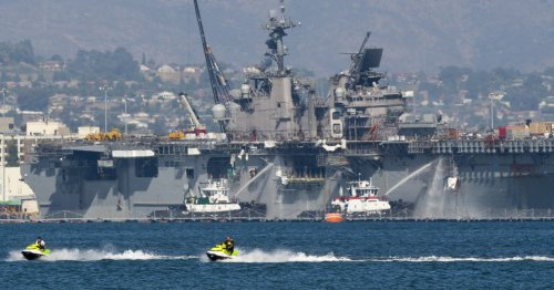 San Diego sailor charged in connection with fire that destroyed warship