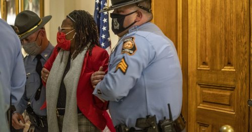 Georgia representative arrested after governor signs elections bill