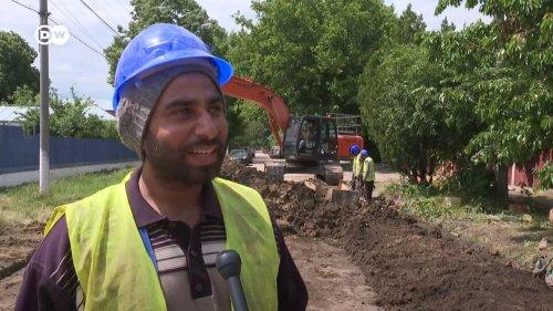 Indische Gastarbeiter auf rumänischen Baustellen