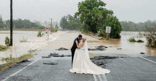 Twitter comes to rescue of Aussie bride after floods threaten to derail wedding plans