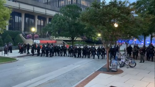 Huntsville drops most protest charges; 3 fight arrests at trial