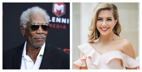 Morgan Freeman and Miss Alabama: Food besties at the beach?
