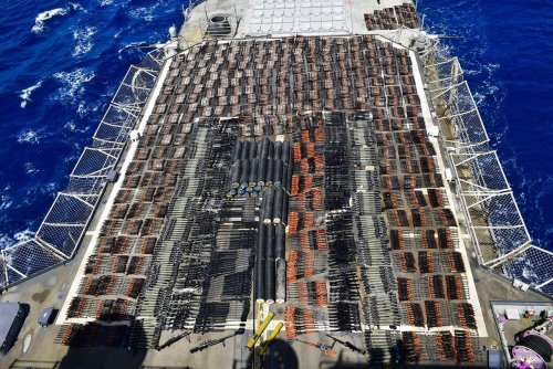 US Navy seizes arms shipment in Arabian Sea amid Yemen war