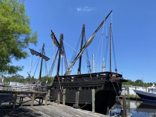 Replica of Christopher Columbus' ship docks in south Alabama