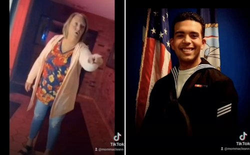 Woman slaps Navy sailor on 9/11 anniversary, calling him a fake in viral video