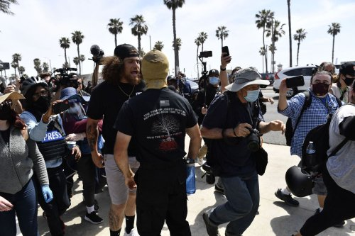 California 'White Lives Matter' marchers find themselves outnumbered
