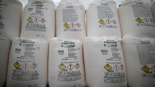 Lebanon seizes 20 tons of ammonium nitrate in eastern Bekaa Valley
