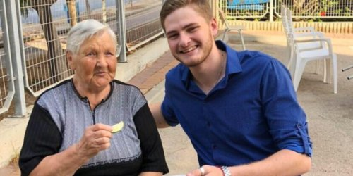 An Israeli Soldier Gives His All for Lonely Senior Citizens