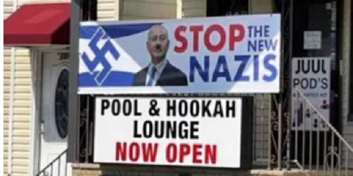 Following Protests, Tobacco Store in New Jersey Removes Antisemitic Banner Calling Israelis 'New Nazis'