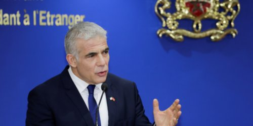 Israeli Foreign Minister Yair Lapid Meets With Egyptian Counterpart