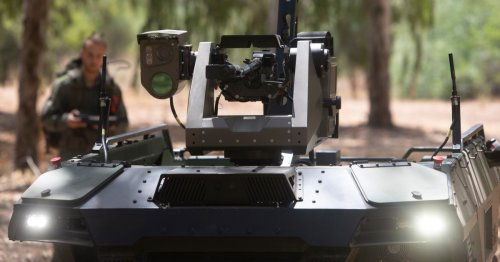 Israeli firm introduces armed combat drone to patrol borders