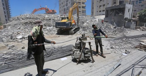 Gaza recycles rubble as Israel upholds ban on construction goods