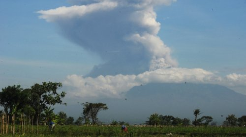 Indonesia's Mount Merapi spews ash in new eruption