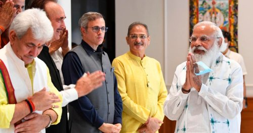 Modi meets Kashmir leaders for first time since autonomy revoked