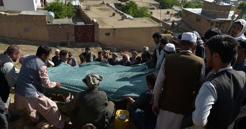Afghans hold funeral for victims of Kabul school bomb blasts