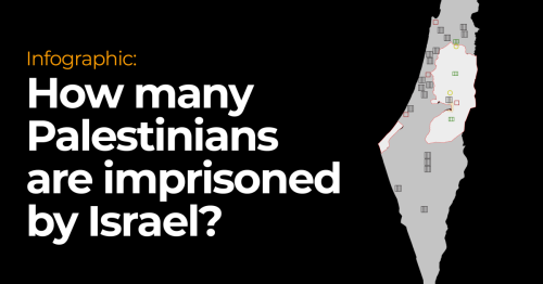 Infographic: How many Palestinians are imprisoned by Israel?