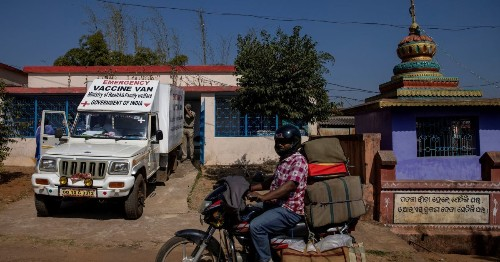Photos: How COVID vaccine travelled 1,700km to an Indian village