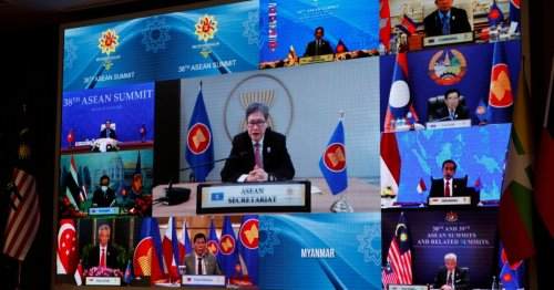 ASEAN summit begins without Myanmar after top general barred