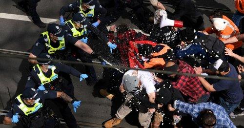 Hundreds arrested in Australian anti-lockdown protests
