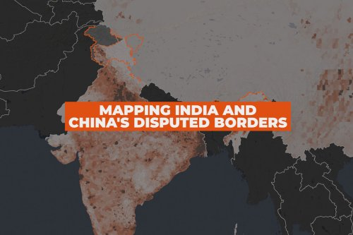 Mapping India and China's disputed borders