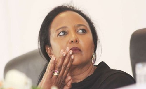 Kenyatta Mourns CS Amina's Hubby
