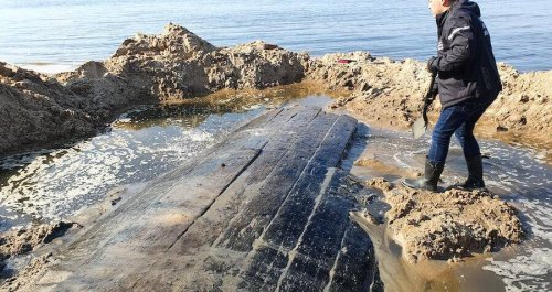 Mysterious Vessel Found On A Latvian Beach Believed To Be A Lost British Warship From 200 Years Ago