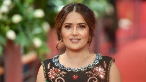 Salma Hayek Lets Her Curls Down In Latest Makeup-Free Selfie