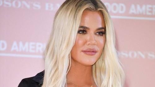 Khloé Kardashian's New Metallic French Manicure Looks Like Literal Daggers