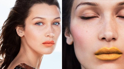 Bella Hadid Tries Fall's Boldest Lip Colors and Takes Our Beauty Quiz