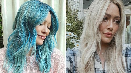 How Hilary Duff Went from Blue Hair to Platinum Blonde