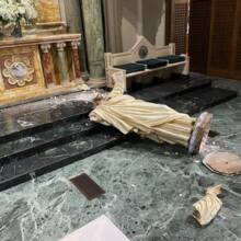After 100 attacks on Catholic sites since 2020, bishops say 'acts of hate' must stop