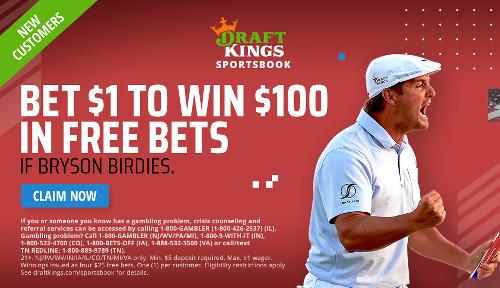 DraftKings US Open Promotion: Bet $1, Win $100 if Bryson birdies