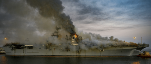 US Navy charges sailor with arson for $3B fire that destroyed warship USS Bonhomme Richard