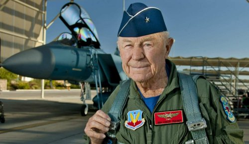 74 years ago the speed of sound was broken by Capt. Yeager