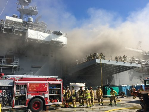 Sailor charged with starting $3 billion ship fire hated the Navy, witnesses say