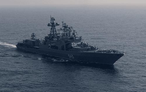Russian fleet practices sinking aircraft carrier near Hawaiian coast