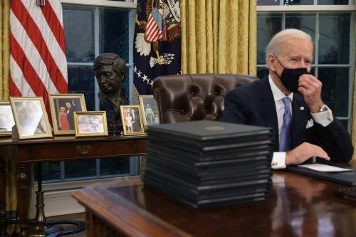 Biden scraps slew of Trump orders, including a sculpture garden of 'American Heroes'