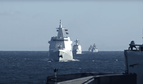 China and Russia hold first Pacific joint war exercises with 10 warships