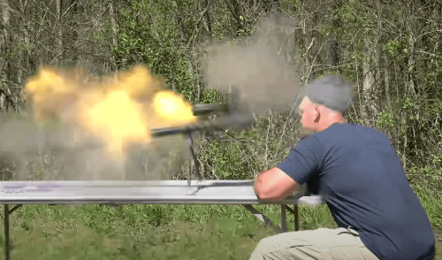 Video: .50 caliber rifle explodes in YouTuber's face, nearly killing him