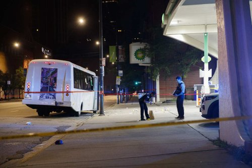 At least 7 party bus riders, 1 bystander wounded in 1 of 3 Chicago mass shootings within 6 hours