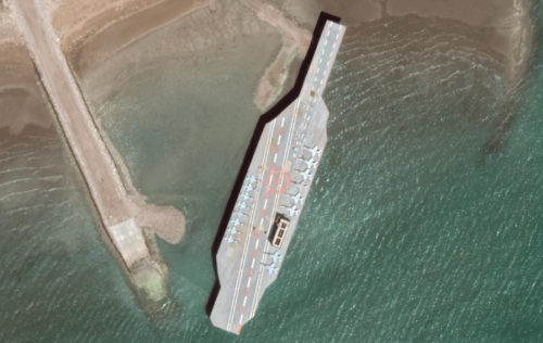 Video: Iran fires missiles at replica US aircraft carrier